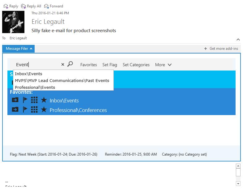 MessageFiler - Folder Filtering